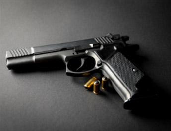 pistol black surface 2